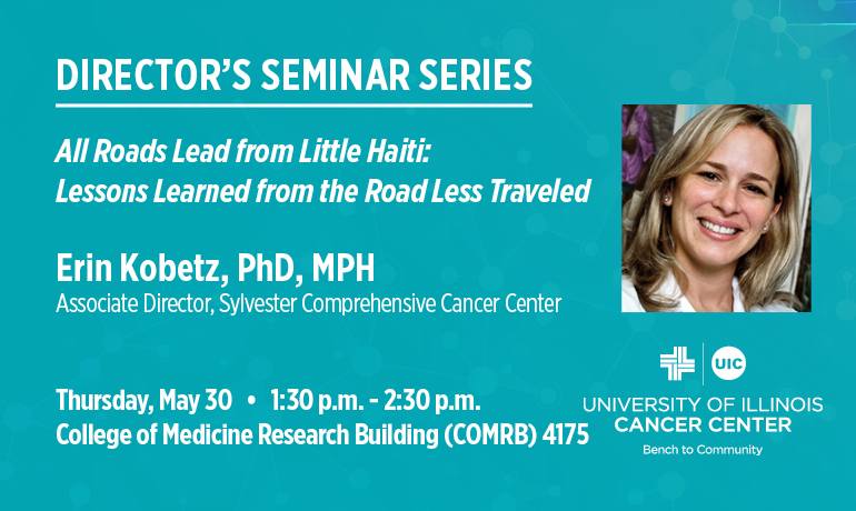 Miami's Kobetz speaking at Director's Seminar Series