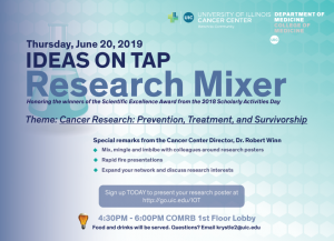 Research mixer honoring poster winners