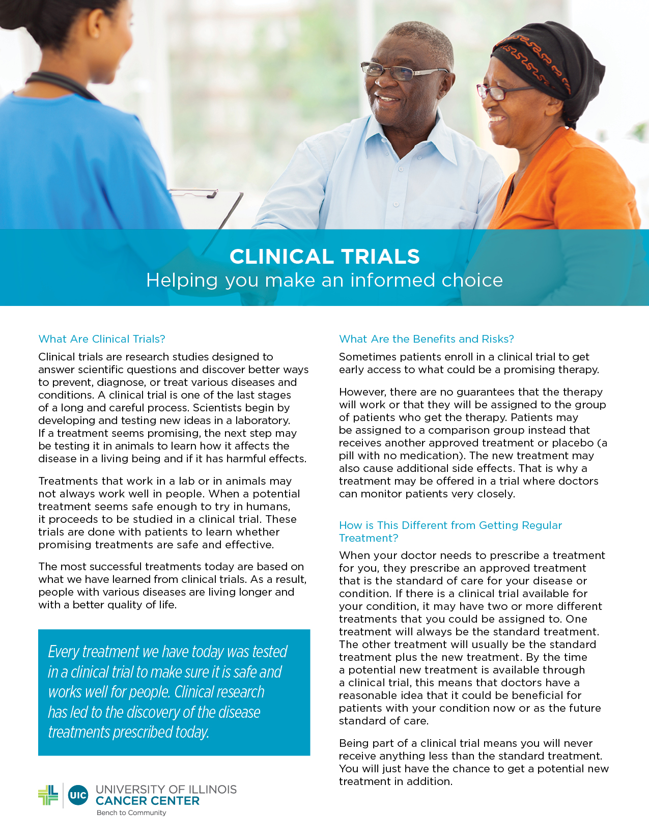 Clinical Trials Helping you make an informed choice.