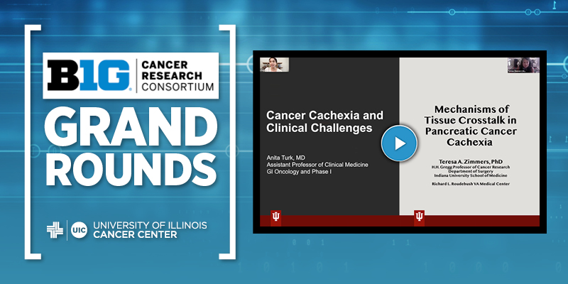 Big Ten Cancer Research Consortium Grand Rounds logo and a screenshot of the PowerPoint presentation
