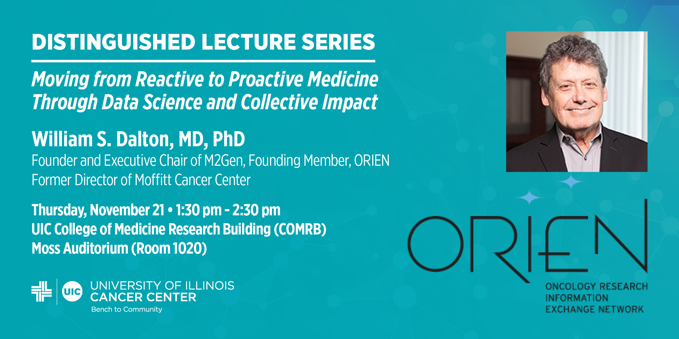 ORIEN Oncology Research Information Exchange Network Distinguished Lecture Series Event