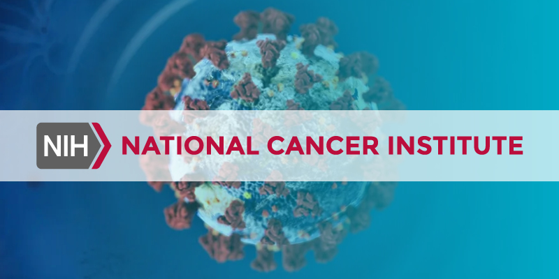 COVID-19 image with National Cancer Institute logo