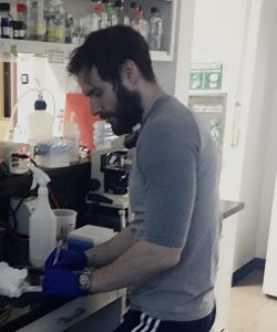 Daniel Principe working in lab
