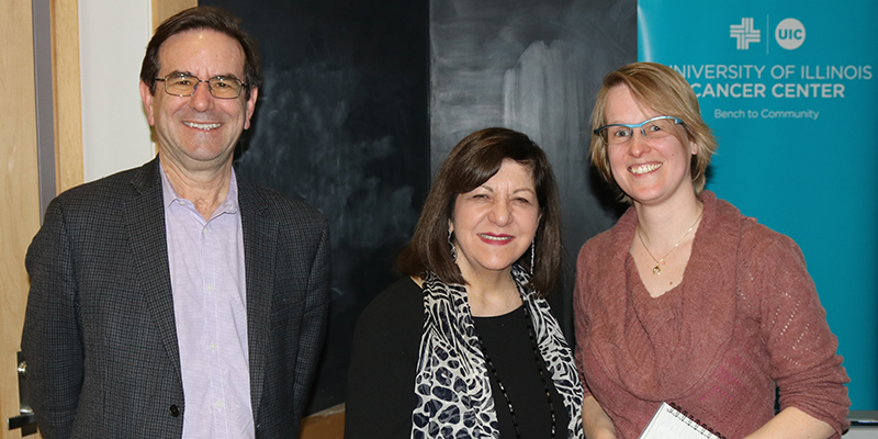 Margaret Foti spoke about her cancer research and AACR's mission on advancing cancer science.