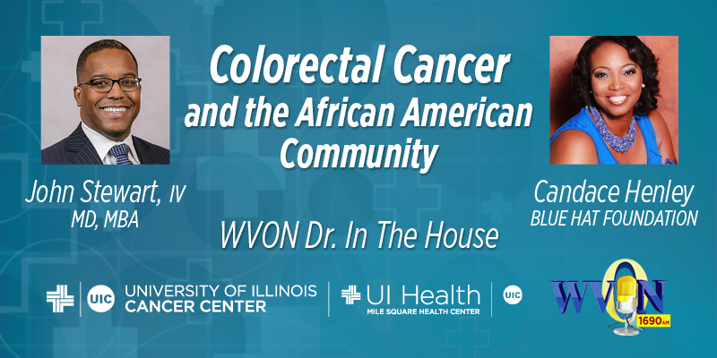 Colorectal Cancer and the African American Community image with guest photos and sponsor logos