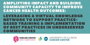 Graphic of the title of the event and the YAAS and UI Cancer Center logo