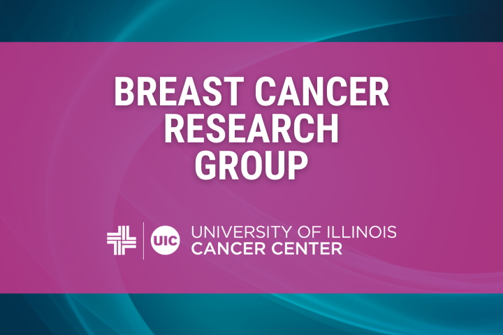 Breast Cancer Research Group graphic with the University of Illinois Cancer Center logo