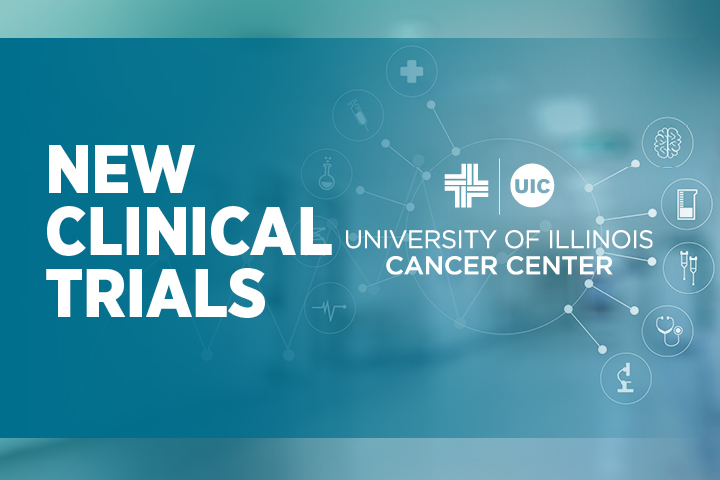 New Clinical Trials image with the UI Cancer Center logo