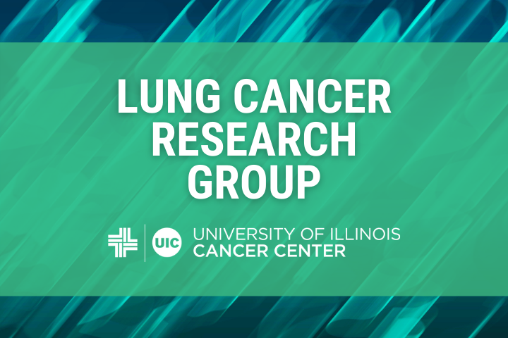 Lung Cancer Research Group graphic with the University of Illinois Cancer Center logo