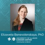 Elizaveta Benevolenskaya photo with her name and the UI Cancer Center logo